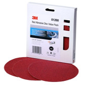 "3M 01260 Red Abrasive Stikit Disc Value Pack, 6"", P80 Grit, 25 Per Pack"