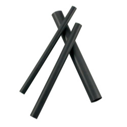 "JT&T 4005H 1/4"" I.D. Black Heat Shrink Tubing (6) 4"" Pcs"