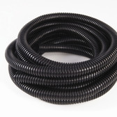 "JT&T 4306F 1/2"" I.D. Black Split Loom Flex-Guard Tubing 7 Ft"