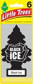 Little Trees Air Fresheners 6-Pack Black Ice