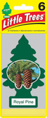 Little Trees Air Fresheners 6-Pack Royal Pine