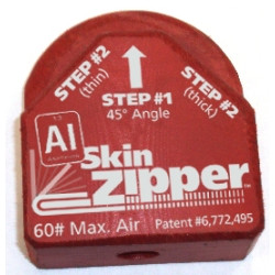 Steck 21892 Al Skin Zipper, Attach a Door Skin