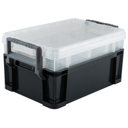 "Titan Tools 21222 22"" 3-Way Stackable Tool Storage Tote"