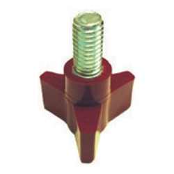 The Main Resource KB6854 Red 3 Wing Knob - Brake Lathe Accessory