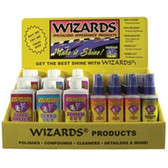 Wizards 11690 Retail Counter Display w/Car Polish, Compound, Cleaner & More