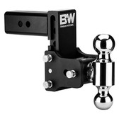 "B&W Hitches TS20040B 2 1/2"" Tow & Stow w/ 10 BLK T&S, DUAL  2 5/16 X 2 BALL"