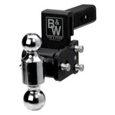 B&W Trailer Hitches TS10033B Tow and Stow Magnum Receiver Hitch Ball Mount