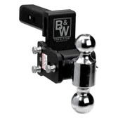 B&W Trailer Hitches TS10043B Tow and Stow Magnum Receiver Hitch Ball Mount