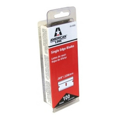 American Safety Razor 66-0089-DISP .009 Single Edge Razor Blades 100Ct Display