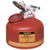 Justrite 14765 Disposal Can, Liquid, Red, 5 Gallon