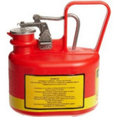 Justrite 14065 1/2 Gallon Oval N/M Safety Can