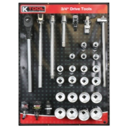 "K Tool 0848 3/4"" Drive Tools Display - Ratchets, Sockets, Extensions and more"
