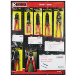 K Tool 0845 Wire Tools Display with Terminal Kit, Electrical Tools