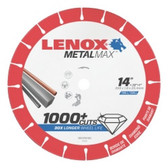"Lenox 1972929 LENOX Metal Max Diamond Cut Off Wheel CH 14"" X 1"""