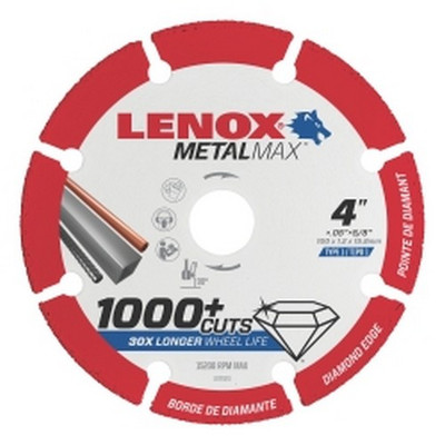 "Lenox 1972921 LENOX Diamond Cut Off Wheel AG 4.5"" X 7/8"""