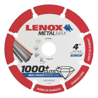 "Lenox 1972918 LENOX Diamond Cut Off Wheel DG 3"" X 3/8"""