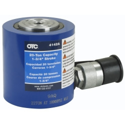 """OTC 4142A 20 Ton Hydraulic Single Acting """"Shorty"""" Cylinder"""