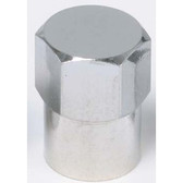 The Main Resource TI116 Chromed Plastic Sealing Long Skirted Cap, 100 Per Box - TPMS