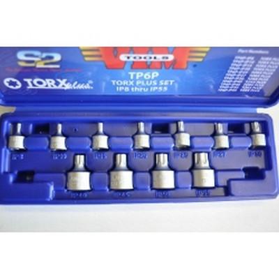 """VIM Tools TP6P-Ip25 Torx Bit Plus, 1/4"""" Square Drive X 3/4"""" Long"""