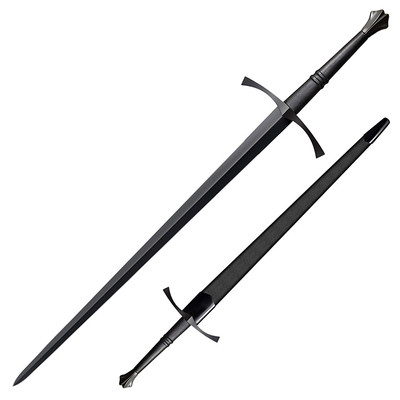 """Cold Steel 88ITSM Man At Arms Italian Long Sword 35.5"""" Blued Carbon Steel Blade"""