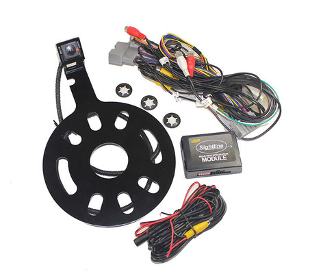 Crux RVCCH75WT Rear-View & Vim Integration W/ Spare Tire Mount Camera For Jeep