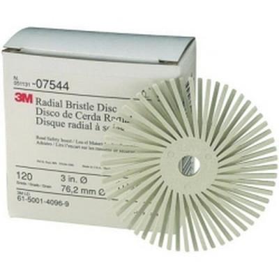 """3M 07544 3"""" Scotch-Brite Radial Bristle Discs - 120 grade White Fine"""