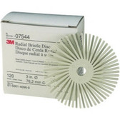"3M 07544 3"" Scotch-Brite Radial Bristle Discs - 120 grade White Fine"