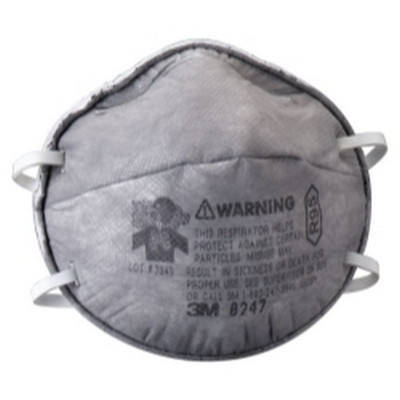 3M 07186 Particulate Respirator, R95, with Nuisance Level Organic Vapor Relief - 20 per Box