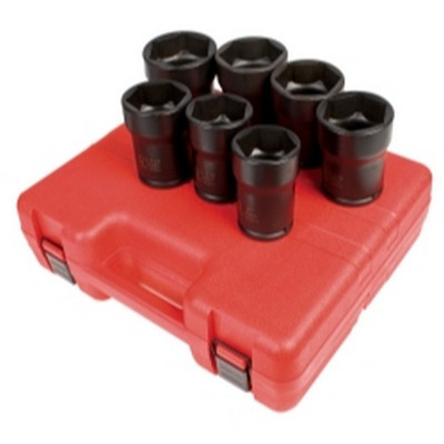 "Sunex Tools 4667 7 Piece 3/4"" Drive Truck Pinion Locknut Impact Socket Set"