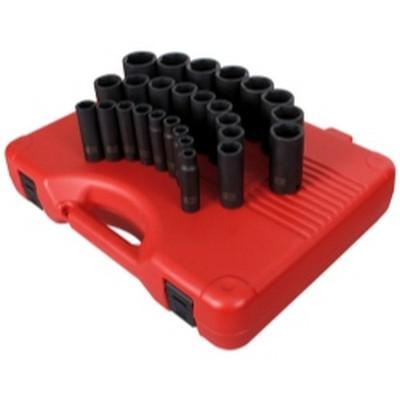 "Sunex Tools 2646 26 Piece 1/2"" Drive Deep Metric Impact Socket Set"