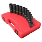 "Sunex Tools 2659 9 Piece 1/2"" Drive Universal Deep SAE Impact Socket Set"