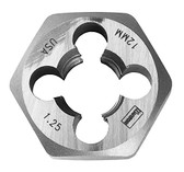 "Irwin 6613 Hex Die, High Carbon Steel, 1"" Across the Flat, 3mm x 0.60, Bulk"