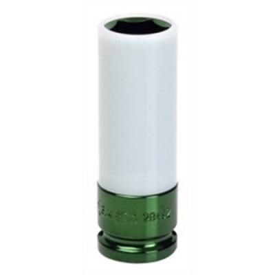 "Sunex Tools 28496 1/2"" Dr. 7/8"" Extra Thin Wall Deep Wheel Protector Impact Socket-Green"