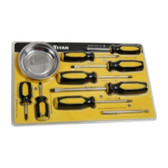 Titan Tools 17241 10-Piece Screwdriver Set with Magnetic Tray