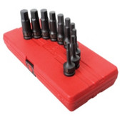 "Sunex Tools 2639 10 Piece 1/2"" Drive Metric Impact Hex Driver Set"