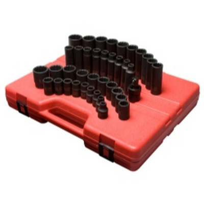 "Sunex Tools 2699 39 Piece 1/2"" Drive 12 Point Metric Master Impact Socket Set"