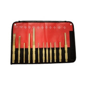 Mayhew Tools 61397 12 Piece Brass Punch and Scraper (Metric) Set
