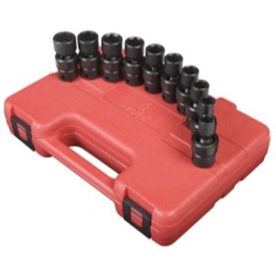 "Sunex Tools 3657 10 Piece 3/8"" Drive Standard Metric Universal Impact Socket Set"