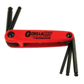 Bondhus 12897 5-Piece Fold-Up Ball End Hex Key Set