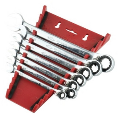 K Tool KTI-45902 7pc. Rev. Rat.Wrench set SAE