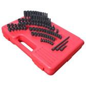 "Sunex Tools 1874 74 Piece 1/4"" Drive Master SAE and Metric Impact Socket Set"