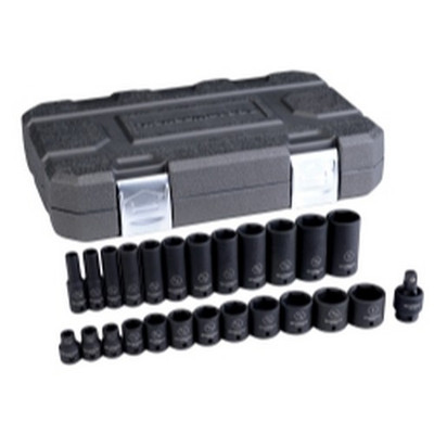 "Gearwrench 84919N 25 Piece 3/8"" Drive 6 Point SAE Standard/Deep Impact Socket Set"