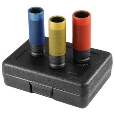 Gearwrench 84946 3 Piece Metric High-Strength Wheel Protector Impact Socket Set