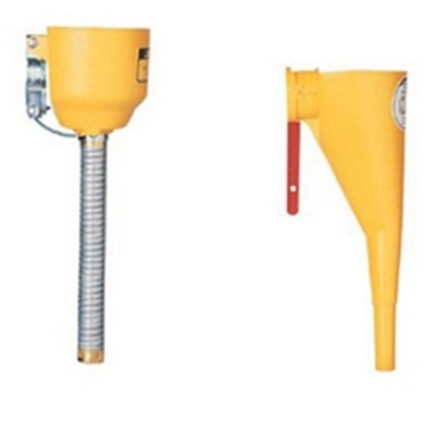 "Justrite 11089 Bolt-On Funnel Attachment, with Galvanized 14"" Hose, for Type 1 Metal Safety Cans"