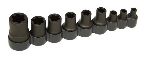 Lisle 83100 9 Piece External Torx Plus Socket Set