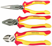 Wiha 32981 Insulated Industrial Pliers and Cutters 3 Piece Set