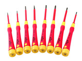 Wiha 32088 8 Piece Insulated Precision Slotted and Phillips Screwdriver Set