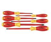 Wiha 32092 Slotted And Phillips Insulated Screwdriver Set, 1000 Volt, 6 Piece