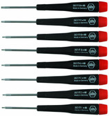 Wiha 26791 Precision Torx Screwdriver 8 Piece Set T1-T8
