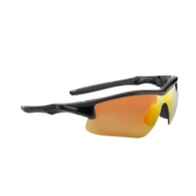 Uvex S4164 Acadia Eyewear - Black with Red Mirror Shades